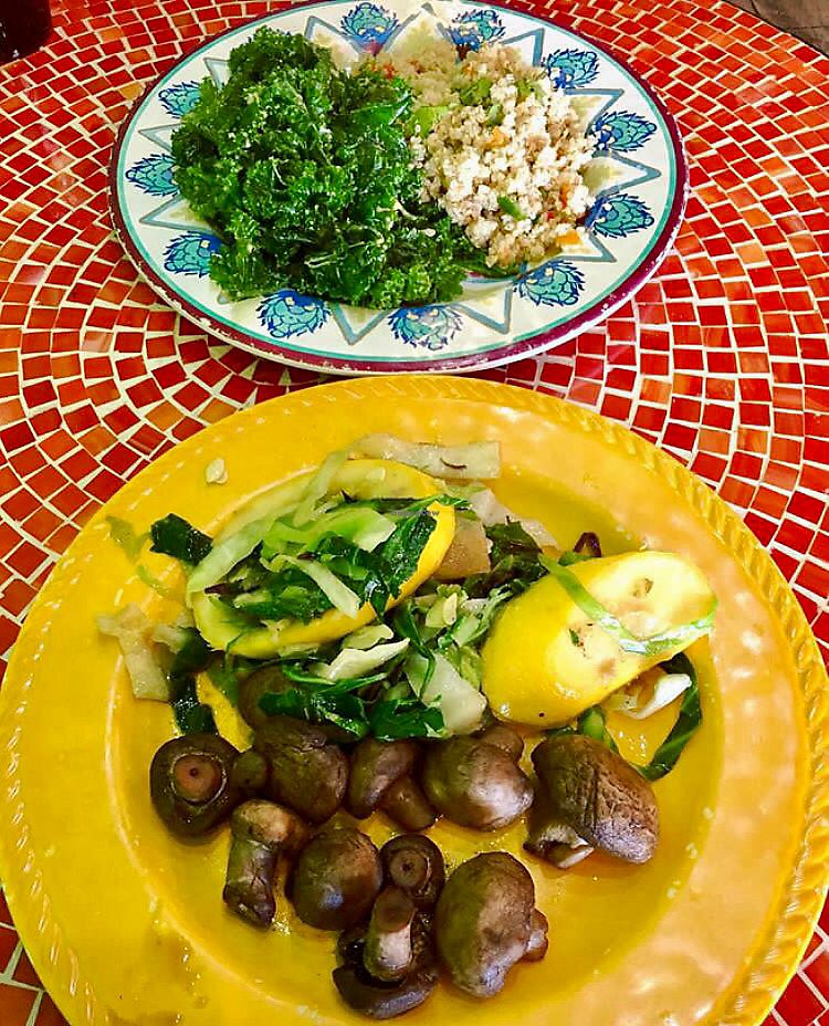 """Photo of Kale Cafe  by <a href=""""/members/profile/clovely.vegan"""">clovely.vegan</a> <br/>jerk mushrooms <br/> August 4, 2017  - <a href='/contact/abuse/image/42862/288610'>Report</a>"""