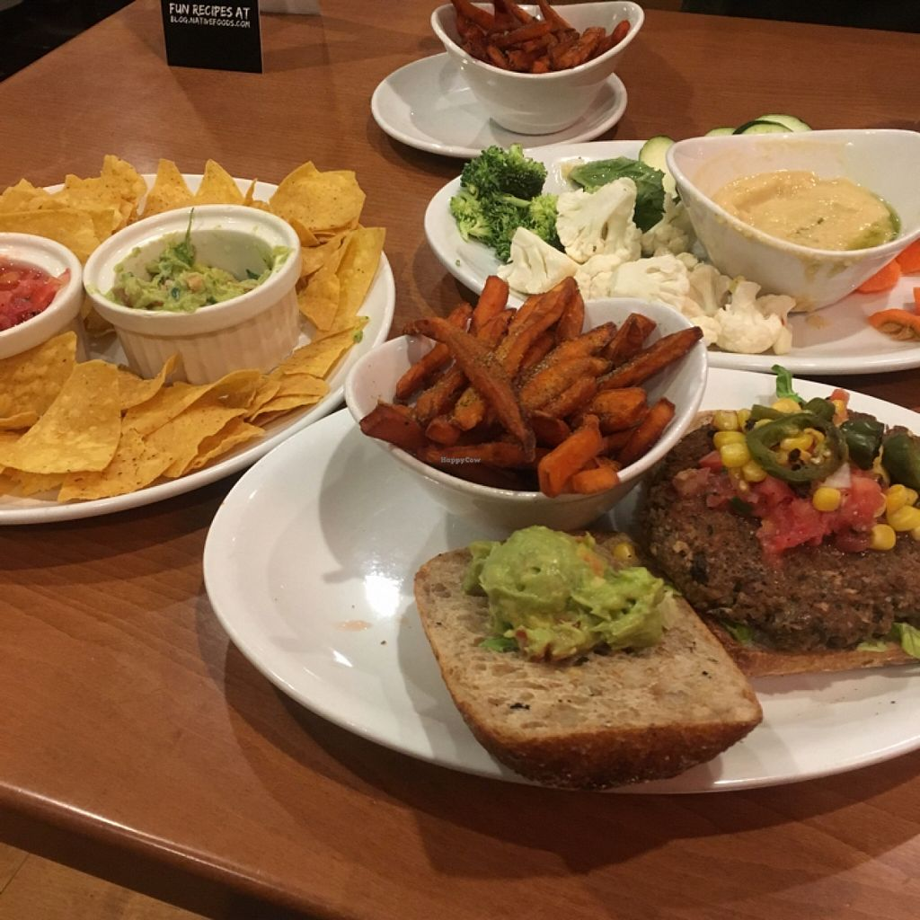 "Photo of Native Foods Cafe - Glendale  by <a href=""/members/profile/AshleyAutumn"">AshleyAutumn</a> <br/>Guacamole, Burger, and hummus! <br/> February 18, 2016  - <a href='/contact/abuse/image/42866/136837'>Report</a>"