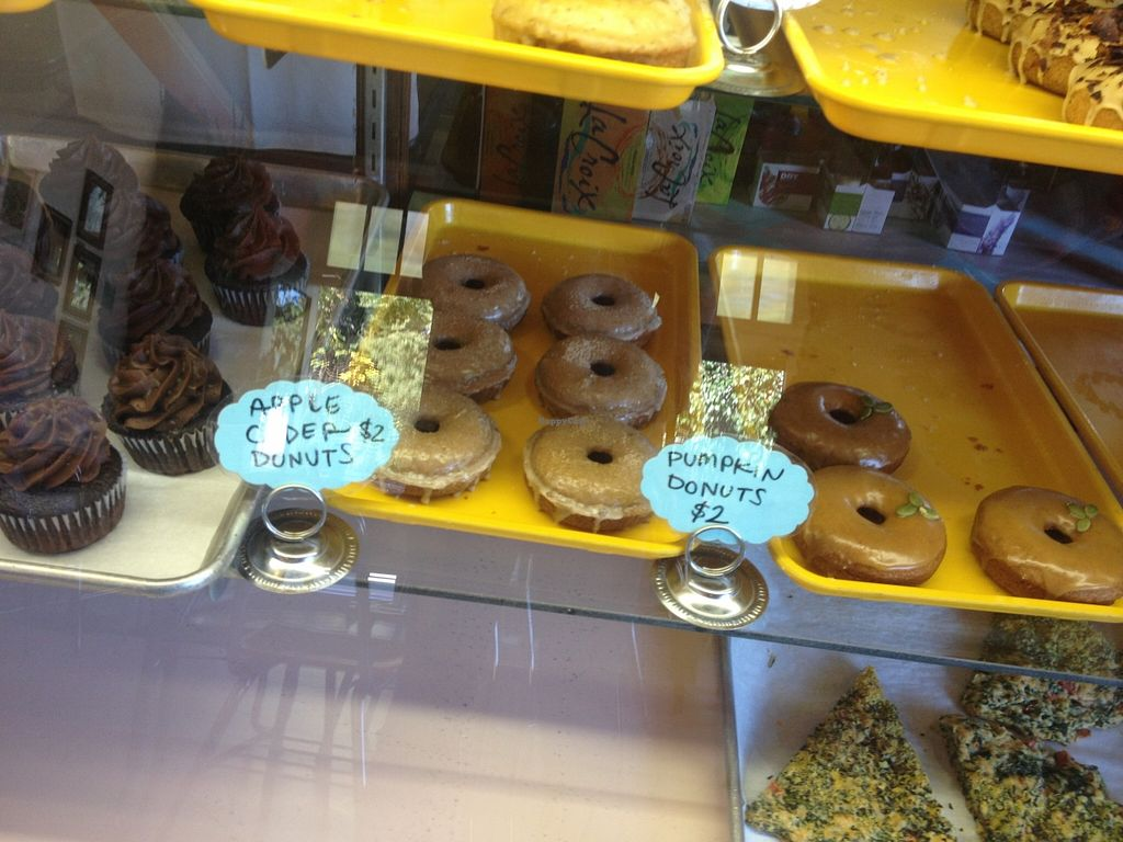 "Photo of Rainbow Bakery  by <a href=""/members/profile/vegan_ryan"">vegan_ryan</a> <br/>Bakery case <br/> October 14, 2015  - <a href='/contact/abuse/image/42867/121305'>Report</a>"