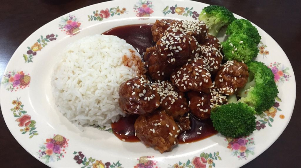 """Photo of Chen Vegetarian House  by <a href=""""/members/profile/ScottElswick"""">ScottElswick</a> <br/>sesame chicken lunch special <br/> December 9, 2015  - <a href='/contact/abuse/image/42869/127703'>Report</a>"""