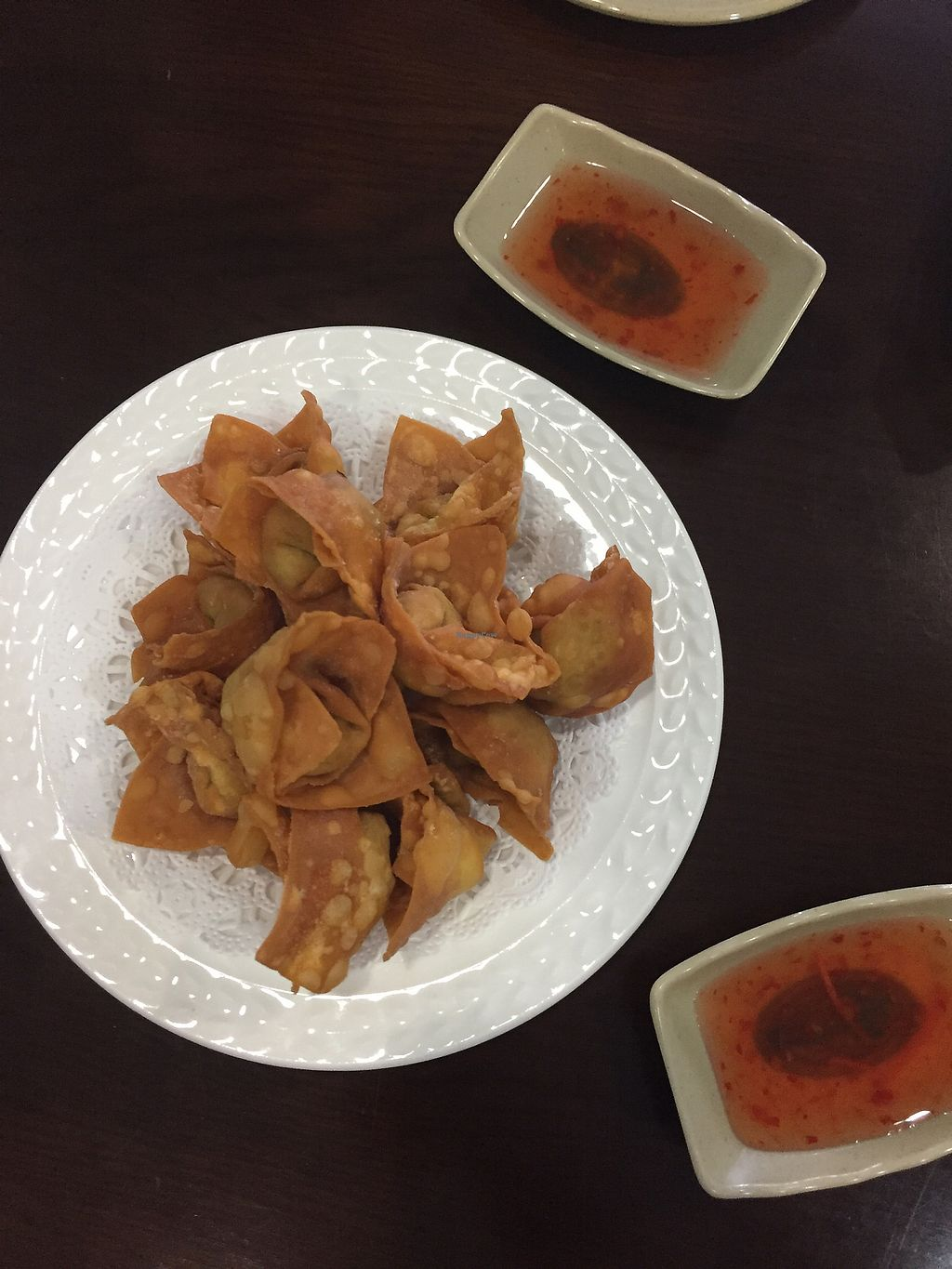 """Photo of Chen Vegetarian House  by <a href=""""/members/profile/katethevegan"""">katethevegan</a> <br/>fried wonton <br/> August 31, 2017  - <a href='/contact/abuse/image/42869/299239'>Report</a>"""