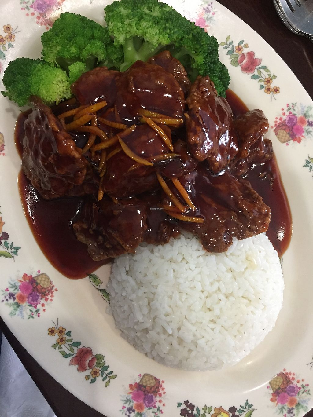 """Photo of Chen Vegetarian House  by <a href=""""/members/profile/katethevegan"""">katethevegan</a> <br/>orange chicken <br/> August 31, 2017  - <a href='/contact/abuse/image/42869/299241'>Report</a>"""