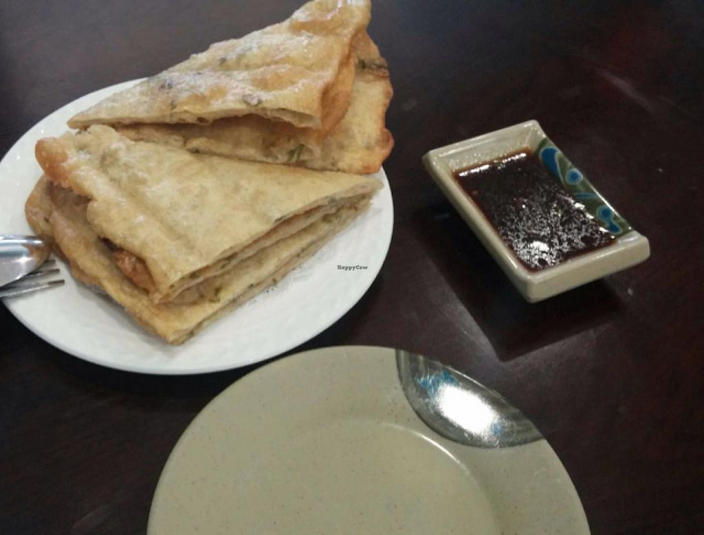 """Photo of Chen Vegetarian House  by <a href=""""/members/profile/aliskydiver"""">aliskydiver</a> <br/>Scallion Pancakes (appetizer) <br/> December 29, 2014  - <a href='/contact/abuse/image/42869/88978'>Report</a>"""
