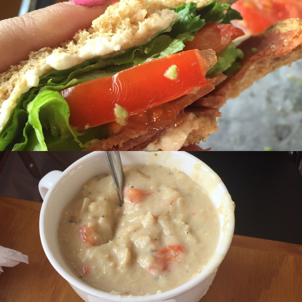 """Photo of The Olive Branch Cafe  by <a href=""""/members/profile/Lespacho"""">Lespacho</a> <br/>Avocado BLT and cream of cauliflower soup sooooo delish!!!!! The best  <br/> March 31, 2016  - <a href='/contact/abuse/image/42885/142053'>Report</a>"""