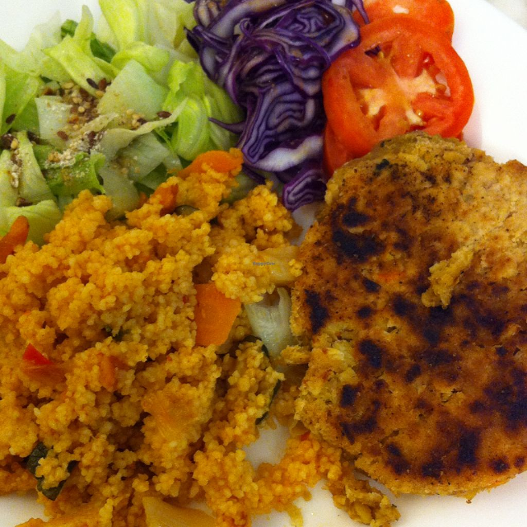 "Photo of Soul Food  by <a href=""/members/profile/hokusai77"">hokusai77</a> <br/>homemade chickpea burger with hot spicy cuscus and mixed salad  <br/> September 28, 2015  - <a href='/contact/abuse/image/42902/119491'>Report</a>"