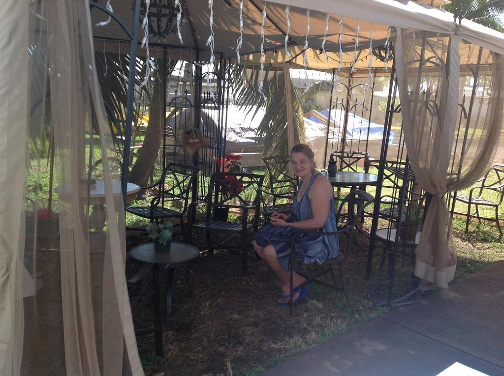 """Photo of CLOSED: Gopal's Creperie - Food Trailer  by <a href=""""/members/profile/FlorenceVincent"""">FlorenceVincent</a> <br/>Lovely shaded eating area <br/> January 12, 2014  - <a href='/contact/abuse/image/42939/62335'>Report</a>"""