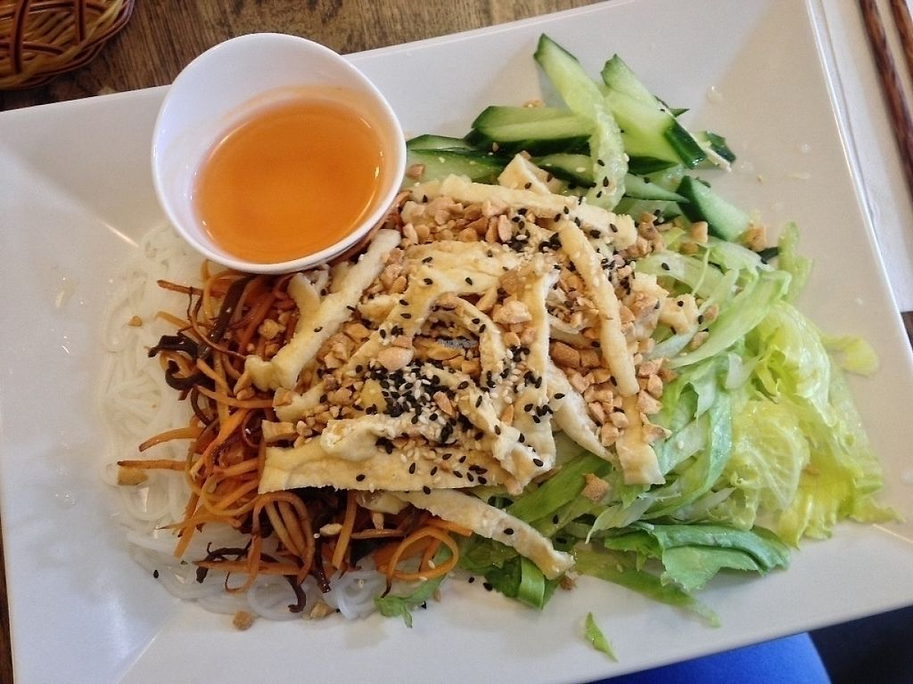 """Photo of Sen Chay  by <a href=""""/members/profile/ibelieveinseitan"""">ibelieveinseitan</a> <br/>Rice noodles and fried tofu <br/> September 26, 2016  - <a href='/contact/abuse/image/42950/230831'>Report</a>"""