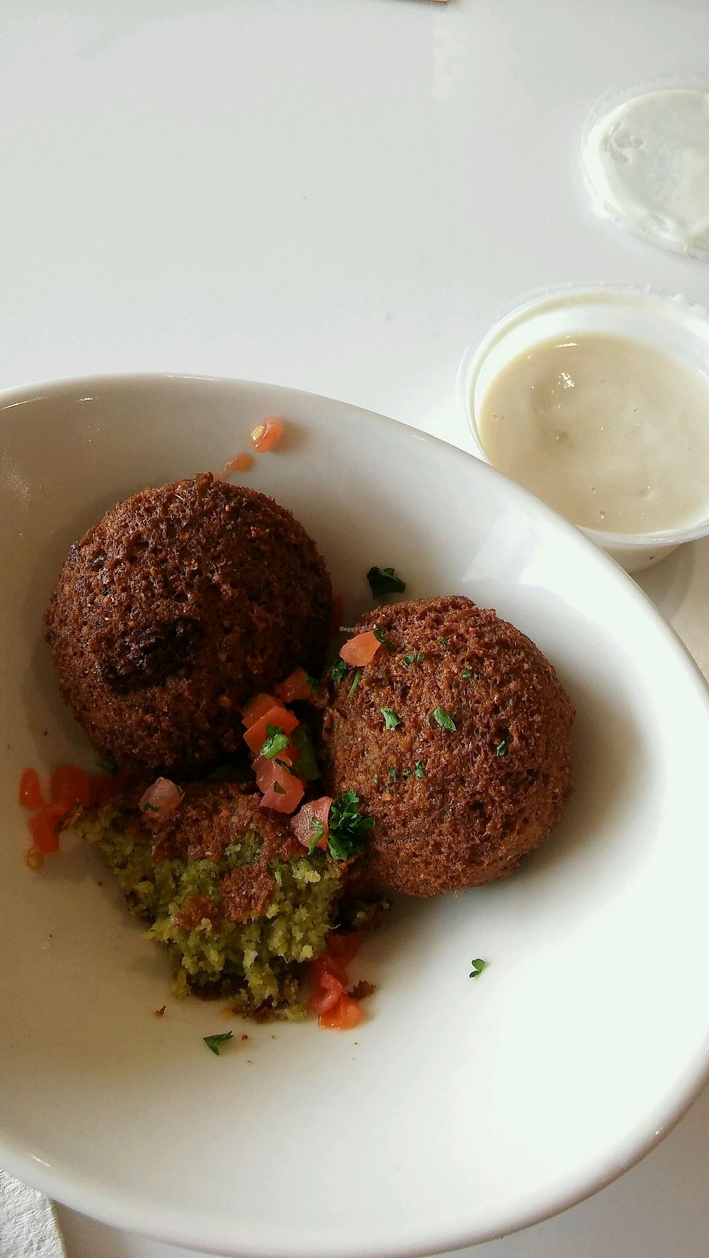 """Photo of Aladdin's Eatery  by <a href=""""/members/profile/RachelLette"""">RachelLette</a> <br/>Falafel!!! - Vegan <br/> September 19, 2017  - <a href='/contact/abuse/image/42970/306220'>Report</a>"""