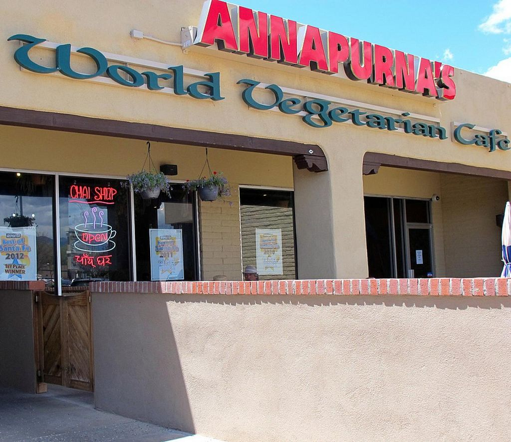 Photo of Annapurna's World Vegetarian Cafe  by RamblingVegans <br/>Annapurna's in Santa Fe <br/> March 2, 2014  - <a href='/contact/abuse/image/4298/65090'>Report</a>
