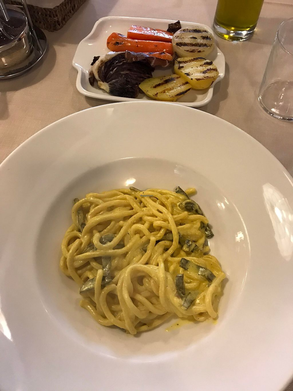 "Photo of La Lanterna  by <a href=""/members/profile/KorneliaSochanova"">KorneliaSochanova</a> <br/>spaghetti and grilled veggies <br/> February 11, 2018  - <a href='/contact/abuse/image/43047/357799'>Report</a>"