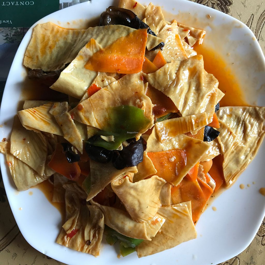 """Photo of Happiness Vegetarian  by <a href=""""/members/profile/earthville"""">earthville</a> <br/>Roasted tofu skin with fungus <br/> May 12, 2017  - <a href='/contact/abuse/image/43061/258197'>Report</a>"""