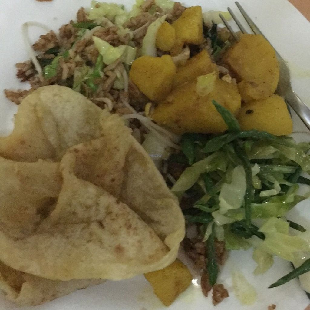 "Photo of Indo Restaurant  by <a href=""/members/profile/Farmaroundthebend"">Farmaroundthebend</a> <br/>my plate with everything combined- roti, potatoes, rice and veggies <br/> December 13, 2016  - <a href='/contact/abuse/image/43112/200672'>Report</a>"