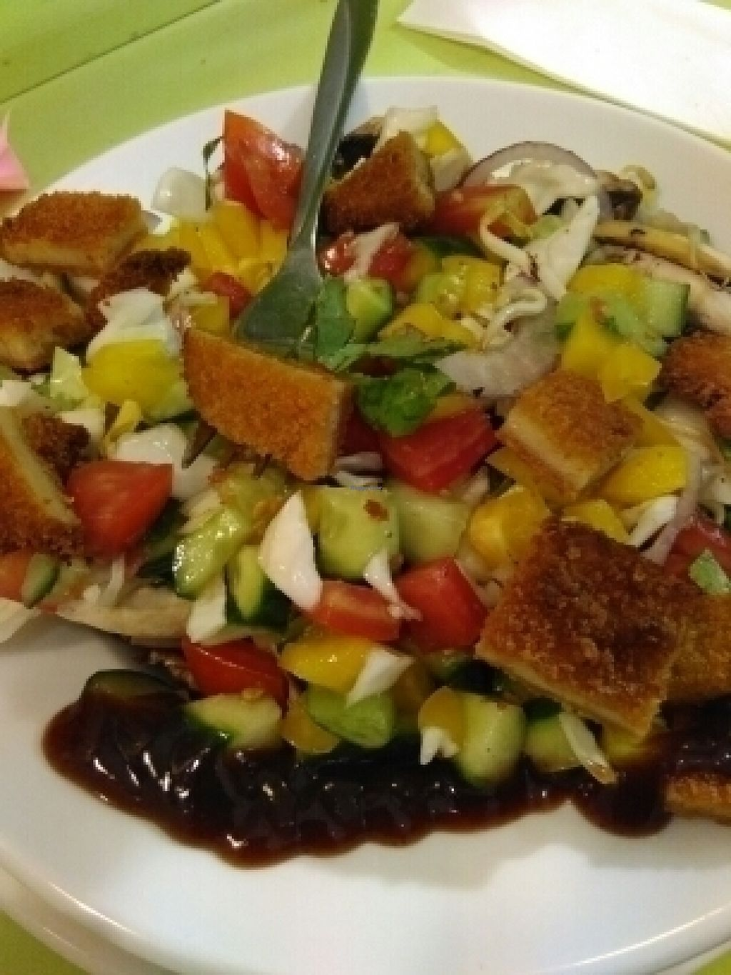 """Photo of The Vegetarian Shawarma  by <a href=""""/members/profile/L%C3%B6weDavid"""">LöweDavid</a> <br/>Seitan Salad <br/> July 17, 2016  - <a href='/contact/abuse/image/43214/160388'>Report</a>"""