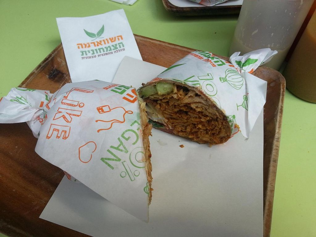 """Photo of The Vegetarian Shawarma  by <a href=""""/members/profile/reuvenk"""">reuvenk</a> <br/>The shawarma in a tortilla <br/> October 11, 2014  - <a href='/contact/abuse/image/43214/82652'>Report</a>"""
