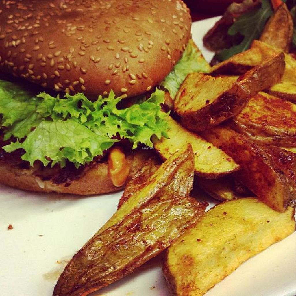"""Photo of Moccaklatsch  by <a href=""""/members/profile/Leeena"""">Leeena</a> <br/>vegan burger  <br/> October 2, 2014  - <a href='/contact/abuse/image/43235/81904'>Report</a>"""