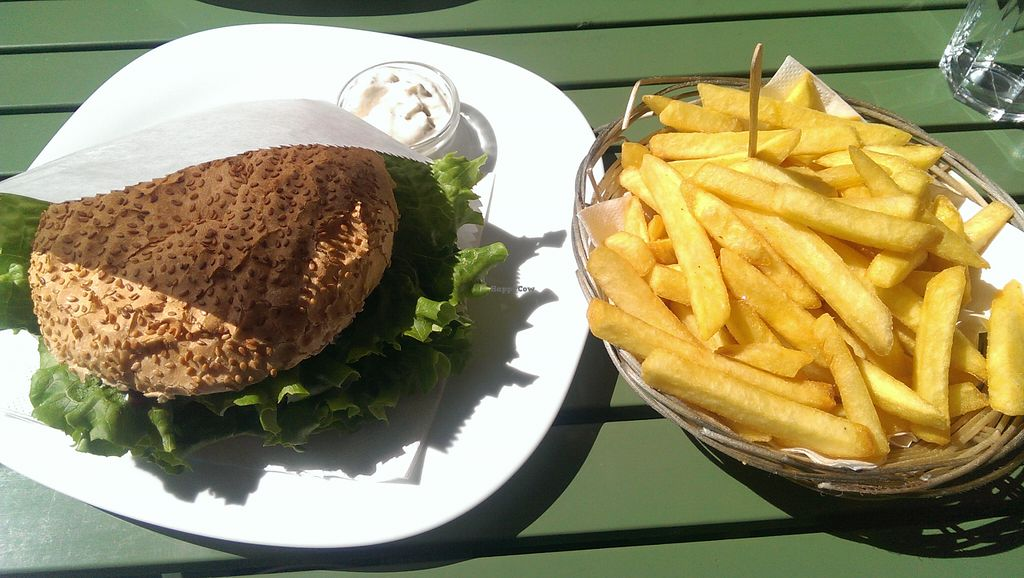 "Photo of Loving Hut  by <a href=""/members/profile/Stasa"">Stasa</a> <br/>Vegan burger, french fries and vegannaise <br/> August 13, 2015  - <a href='/contact/abuse/image/43238/113378'>Report</a>"
