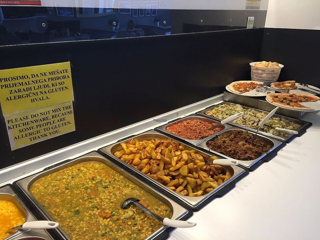 """Photo of Loving Hut - Ljubljana center  by <a href=""""/members/profile/rackoo"""">rackoo</a> <br/>Right side of the vegan buffet <br/> December 13, 2016  - <a href='/contact/abuse/image/43251/200567'>Report</a>"""