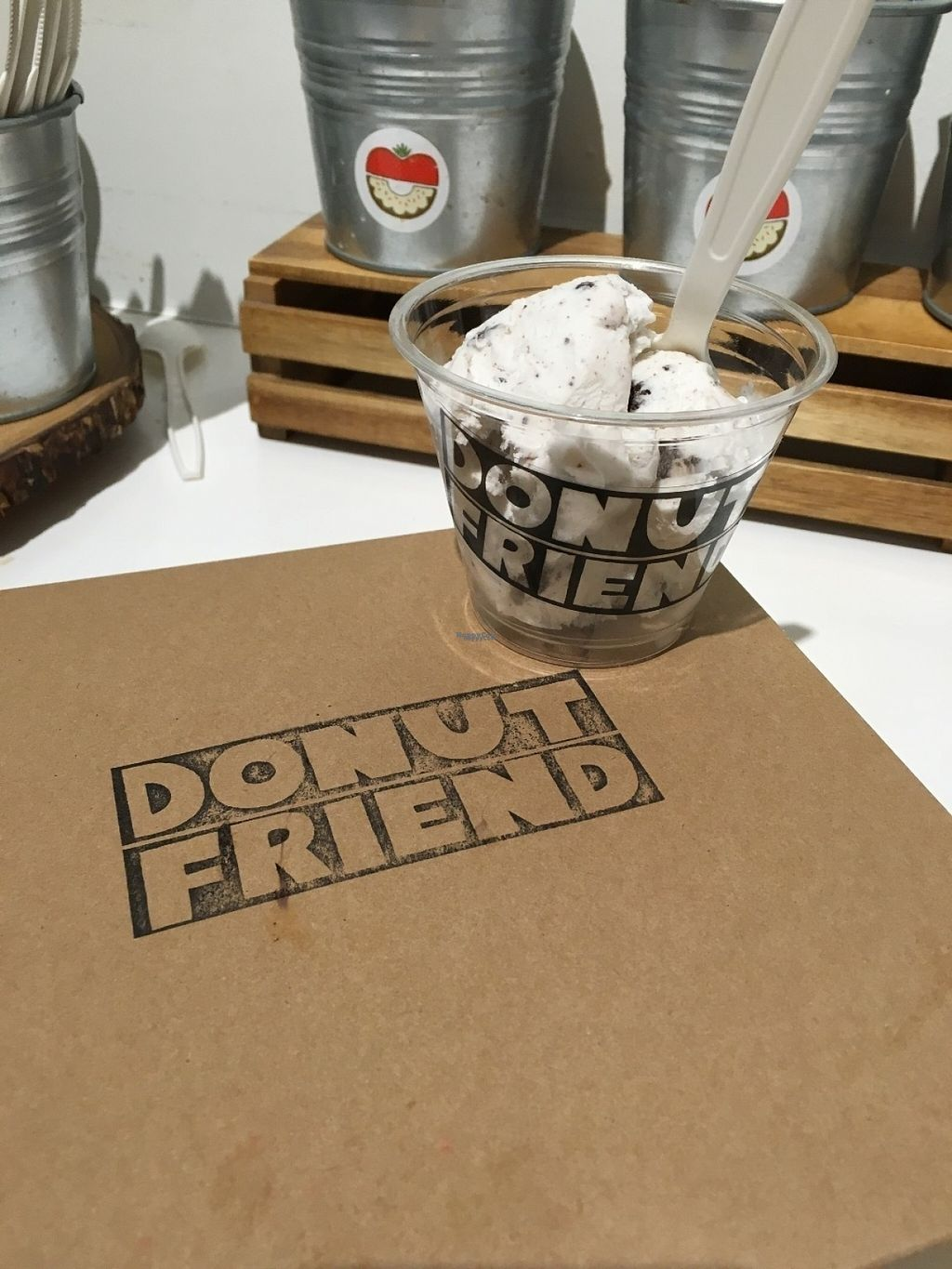 """Photo of Donut Friend  by <a href=""""/members/profile/Tigra220"""">Tigra220</a> <br/>Vegan Cookies n Cream ice cream is so creamy and delicious!  <br/> August 7, 2016  - <a href='/contact/abuse/image/43258/166426'>Report</a>"""