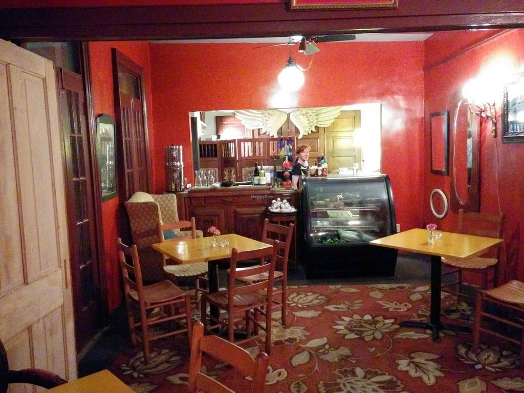"""Photo of CLOSED: Bhava  by <a href=""""/members/profile/mmeghani"""">mmeghani</a> <br/>Dining area with serving counter in the back <br/> May 22, 2014  - <a href='/contact/abuse/image/43281/70496'>Report</a>"""