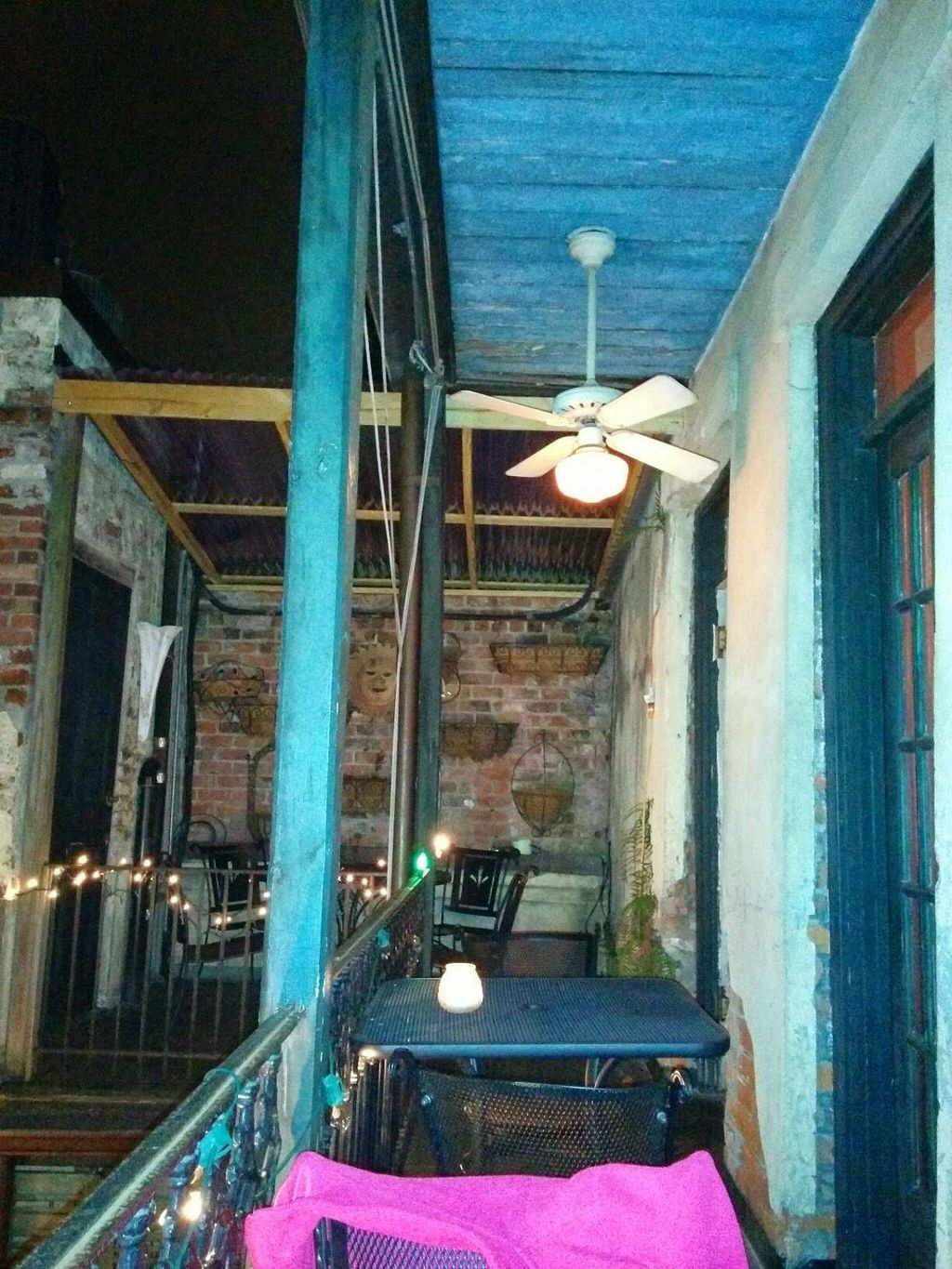 """Photo of CLOSED: Bhava  by <a href=""""/members/profile/mmeghani"""">mmeghani</a> <br/>Dining area overlooking a nice courtyard to the side & below <br/> May 22, 2014  - <a href='/contact/abuse/image/43281/70499'>Report</a>"""
