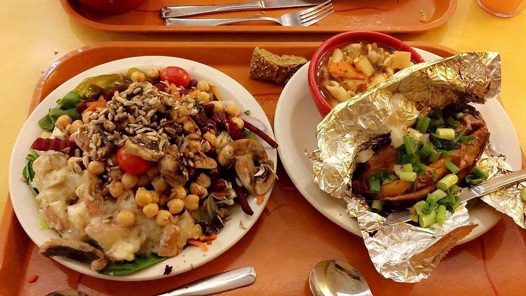 """Photo of Sweet Tomatoes  by <a href=""""/members/profile/Sacha.D"""">Sacha.D</a> <br/>Salad and potato  <br/> December 12, 2017  - <a href='/contact/abuse/image/43301/334839'>Report</a>"""