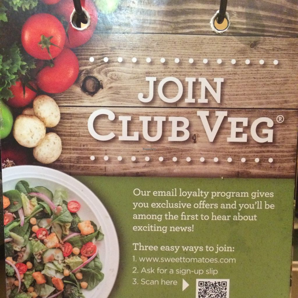 """Photo of CLOSED: Sweet Tomatoes  by <a href=""""/members/profile/Carinisavegan"""">Carinisavegan</a> <br/>Email loyalty program  <br/> February 13, 2016  - <a href='/contact/abuse/image/43314/136183'>Report</a>"""