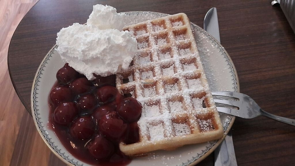 """Photo of Cafe Hibiskus  by <a href=""""/members/profile/piffelina"""">piffelina</a> <br/>Vegan waffle! <br/> July 3, 2017  - <a href='/contact/abuse/image/43348/276159'>Report</a>"""