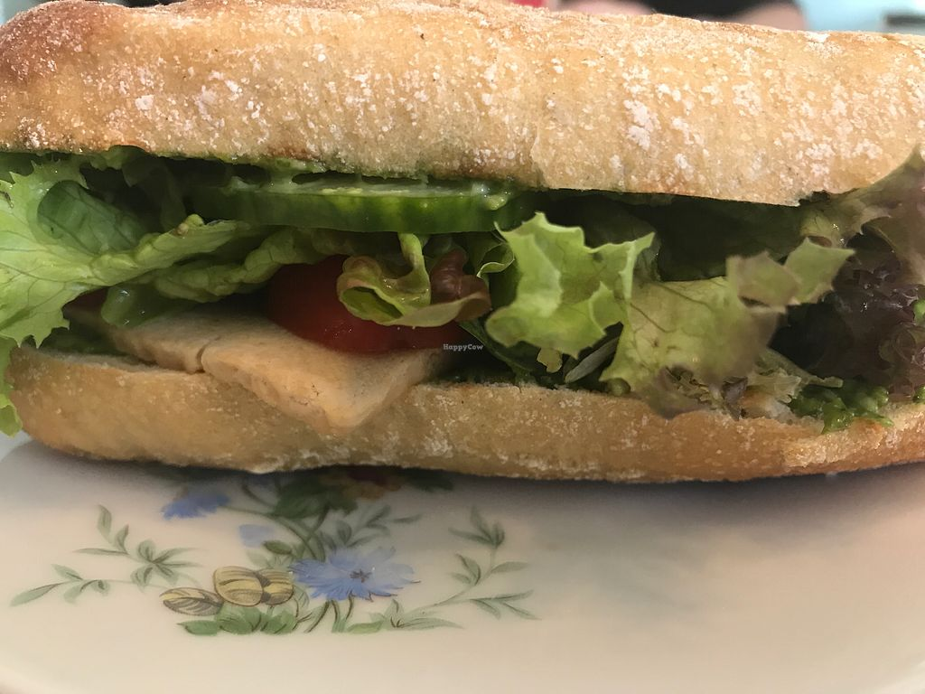 """Photo of Cafe Hibiskus  by <a href=""""/members/profile/Skye"""">Skye</a> <br/>pesto sandwich with tofu <br/> July 22, 2017  - <a href='/contact/abuse/image/43348/283167'>Report</a>"""