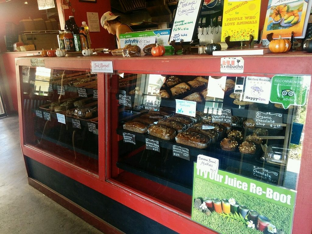 """Photo of Evolution Bakery and Cafe  by <a href=""""/members/profile/alexandra_vegan"""">alexandra_vegan</a> <br/>Goodies display <br/> September 27, 2017  - <a href='/contact/abuse/image/43352/309192'>Report</a>"""