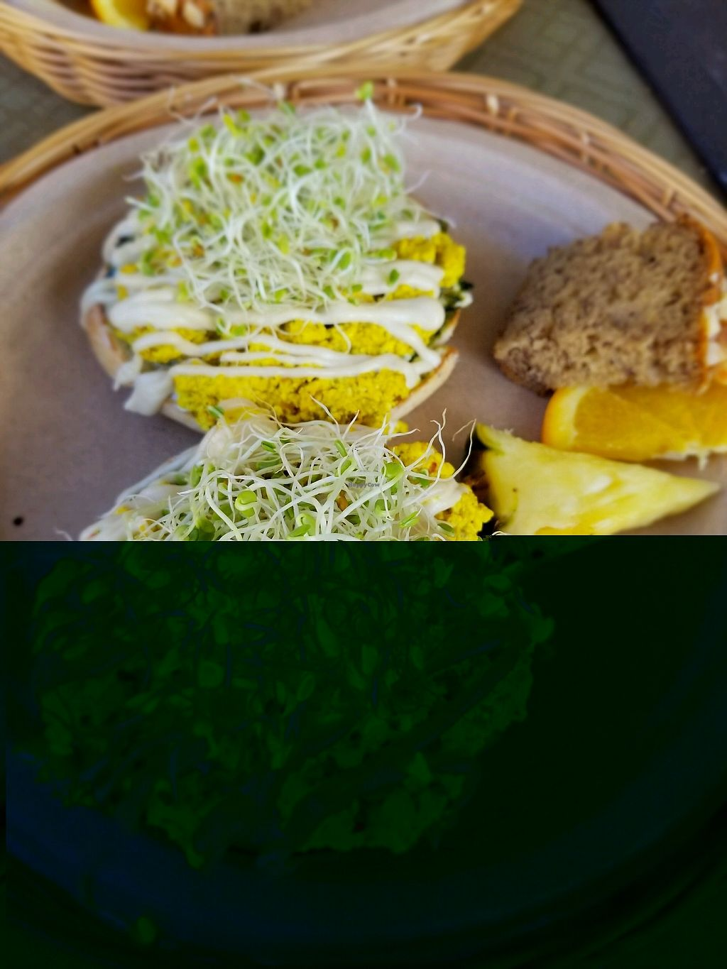 """Photo of Evolution Bakery and Cafe  by <a href=""""/members/profile/Vegan.Shay"""">Vegan.Shay</a> <br/>Ghandi bagel. just amazing <br/> January 20, 2018  - <a href='/contact/abuse/image/43352/348675'>Report</a>"""
