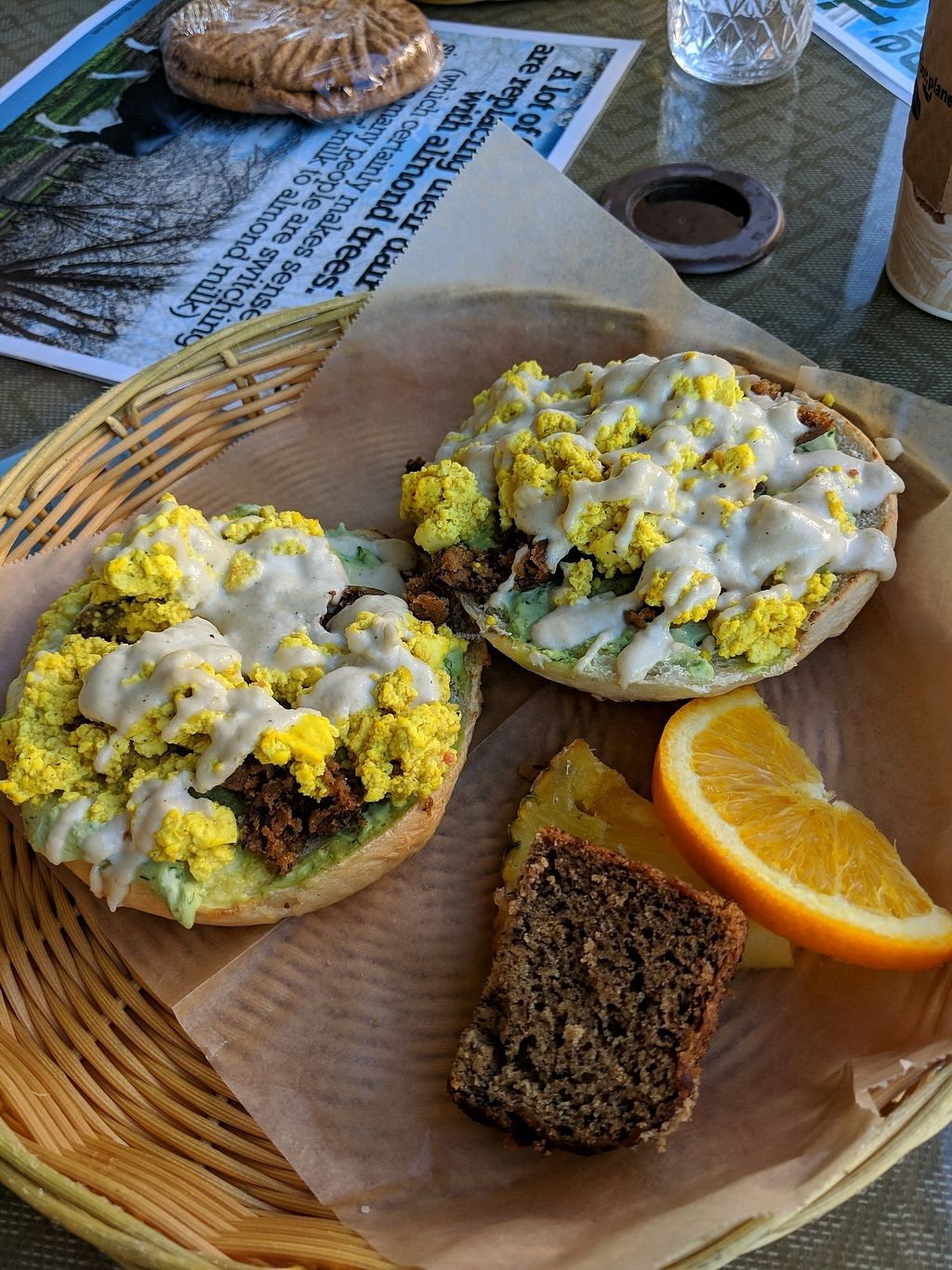 """Photo of Evolution Bakery and Cafe  by <a href=""""/members/profile/mrrfrost"""">mrrfrost</a> <br/>Buddha bagel scramble <br/> February 20, 2018  - <a href='/contact/abuse/image/43352/361838'>Report</a>"""