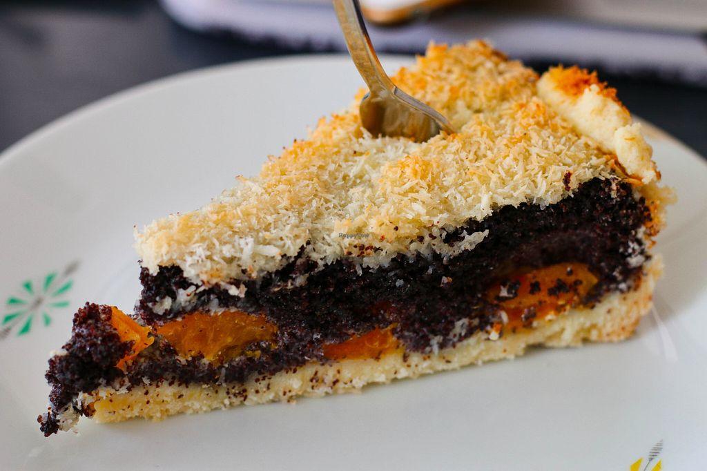"Photo of Taracafe  by <a href=""/members/profile/myvegandubai"">myvegandubai</a> <br/>Vegan poppy seed apricot and coconut cake <br/> July 15, 2016  - <a href='/contact/abuse/image/43386/159992'>Report</a>"