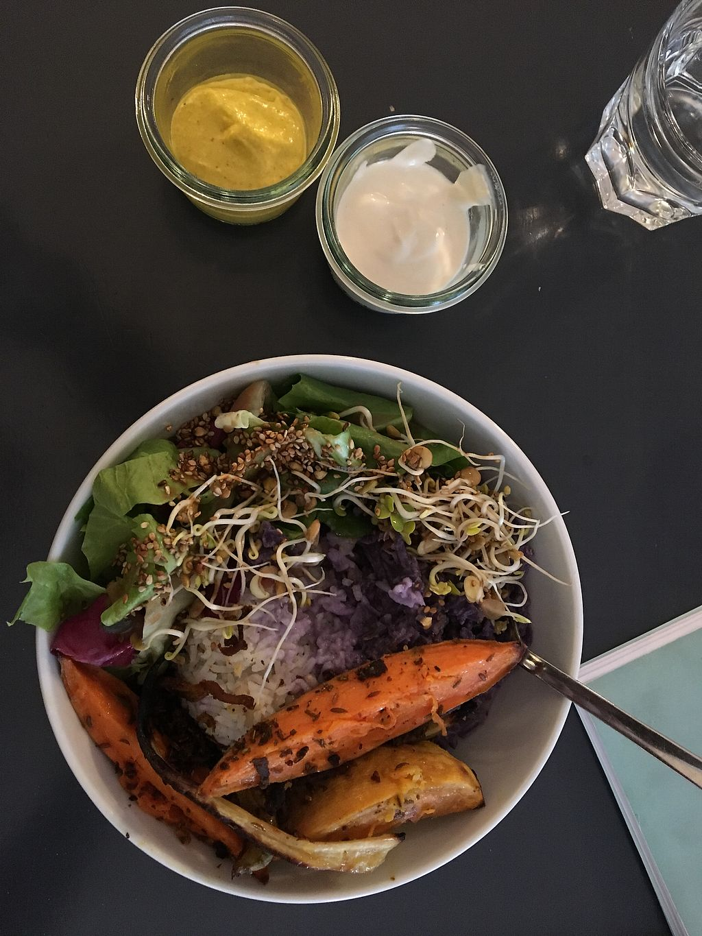 """Photo of Taracafe  by <a href=""""/members/profile/DanielBroadley"""">DanielBroadley</a> <br/>Rice, roasted veg and pickled cabbage  <br/> March 23, 2018  - <a href='/contact/abuse/image/43386/374773'>Report</a>"""