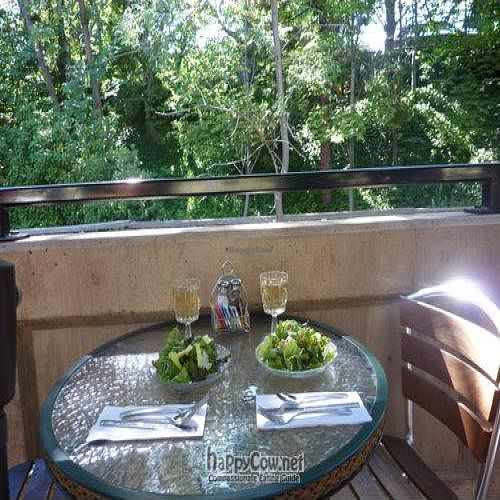 """Photo of Greenleaf Restaurant  by <a href=""""/members/profile/daniel"""">daniel</a> <br/>The start to a perfect meal...a glass of local wine and a garden salad while enjoying the sound of the creek! <br/> February 10, 2011  - <a href='/contact/abuse/image/4339/7354'>Report</a>"""
