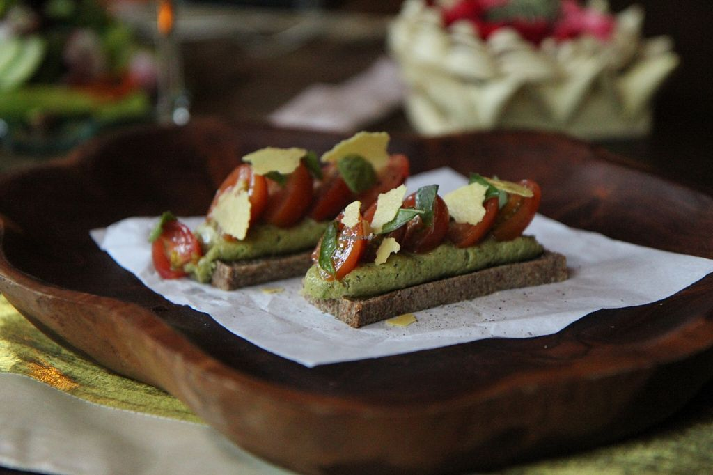 """Photo of Sakti Dining Room  by <a href=""""/members/profile/SagarKShah"""">SagarKShah</a> <br/>Pesto toast <br/> April 18, 2016  - <a href='/contact/abuse/image/43401/145131'>Report</a>"""