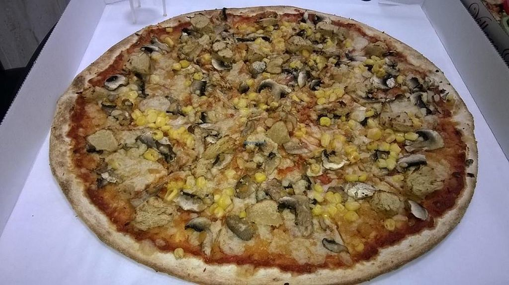 """Photo of CLOSED: Village Pizza  by <a href=""""/members/profile/EmilyBennett3050"""">EmilyBennett3050</a> <br/>Amazing vegan pizza at Village Pizza! Home delivery also available as well as collection.  <br/> August 19, 2014  - <a href='/contact/abuse/image/43419/77449'>Report</a>"""