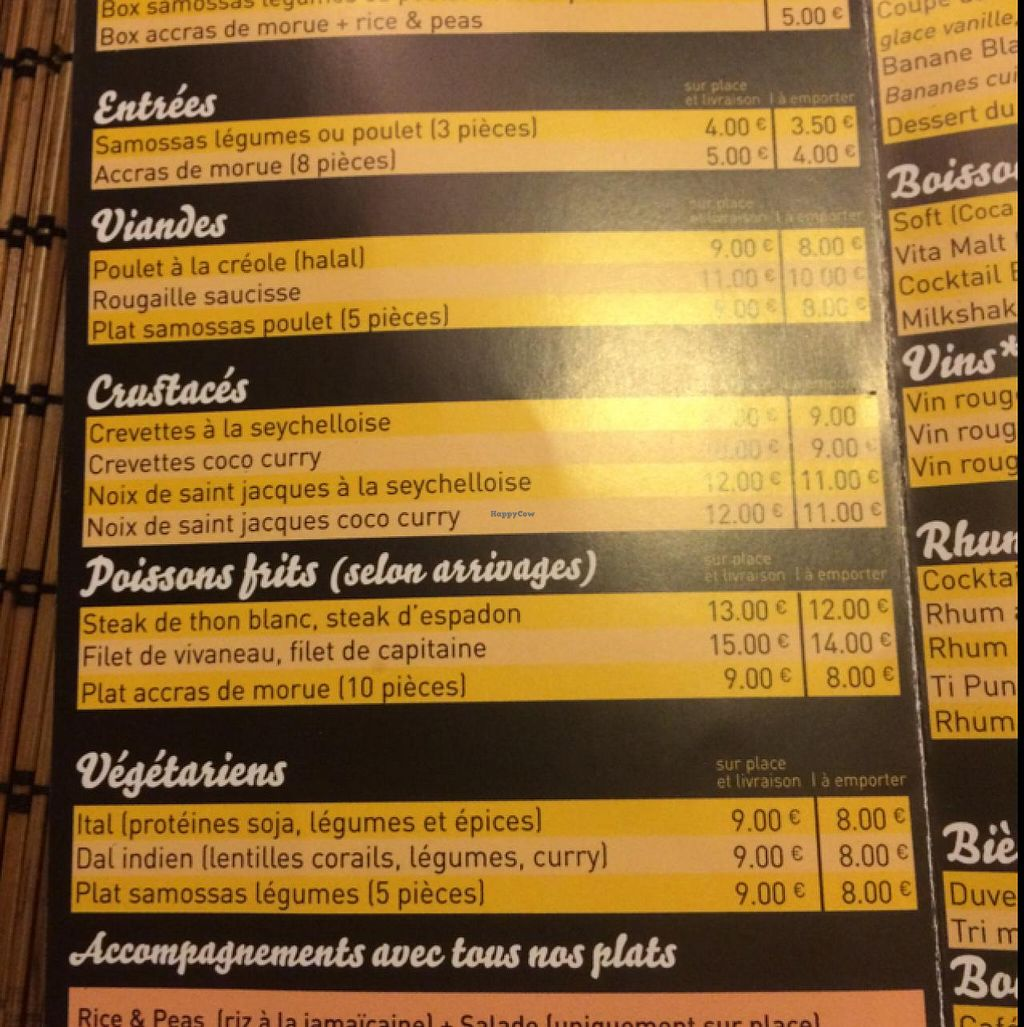 """Photo of Black Temple Food  by <a href=""""/members/profile/Pako"""">Pako</a> <br/>menu with the main course. the dishes named'Végétarien' are Began friendly.  <br/> March 4, 2015  - <a href='/contact/abuse/image/43435/94881'>Report</a>"""