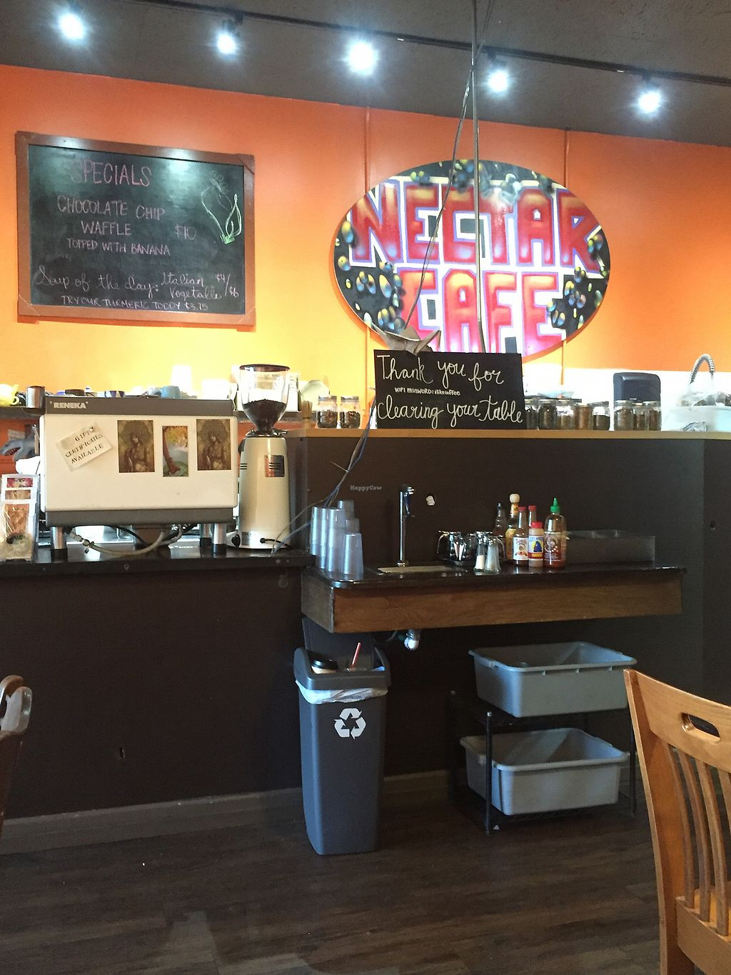 "Photo of Nectar Cafe  by <a href=""/members/profile/happycowgirl"">happycowgirl</a> <br/>Order at the counter <br/> December 31, 2017  - <a href='/contact/abuse/image/43466/341120'>Report</a>"