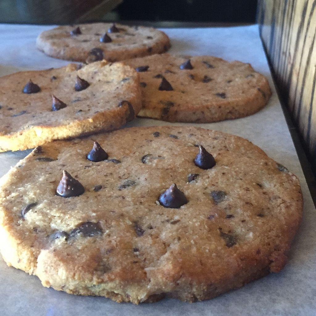 "Photo of Nectar Cafe  by <a href=""/members/profile/happycowgirl"">happycowgirl</a> <br/>Vegan chocolate chip cookies  <br/> December 31, 2017  - <a href='/contact/abuse/image/43466/341125'>Report</a>"