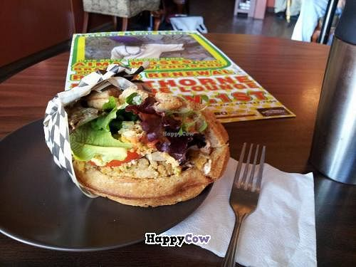 "Photo of Nectar Cafe  by <a href=""/members/profile/NStille"">NStille</a> <br/>Vegan and Gluten Free Waffle Sandwich.  $7 <br/> November 20, 2013  - <a href='/contact/abuse/image/43466/58801'>Report</a>"