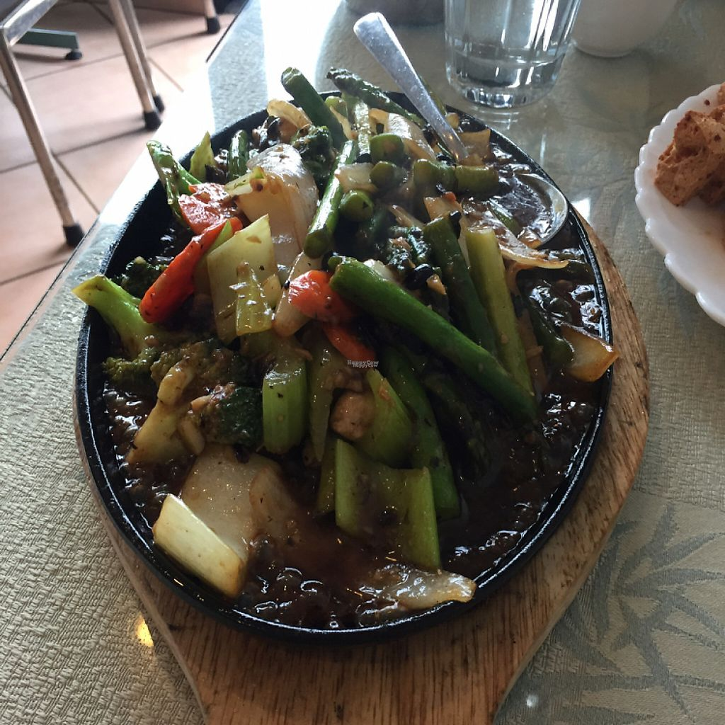 """Photo of Lemongrass Cafe  by <a href=""""/members/profile/Madimassacre"""">Madimassacre</a> <br/>Sizzling asparagus and black bean sauce <br/> April 2, 2017  - <a href='/contact/abuse/image/43478/244043'>Report</a>"""
