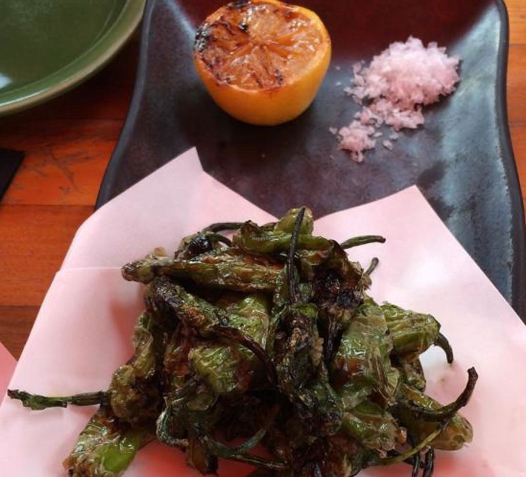 """Photo of SushiSamba  by <a href=""""/members/profile/kmilitello"""">kmilitello</a> <br/>Shishito: grilled spicy peppers <br/> May 31, 2014  - <a href='/contact/abuse/image/43531/196750'>Report</a>"""