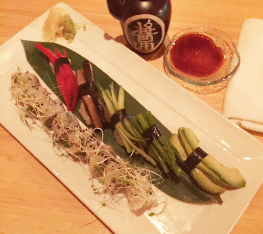 """Photo of SushiSamba  by <a href=""""/members/profile/SarahKirby"""">SarahKirby</a> <br/>Vegan Sushi Platter <br/> May 9, 2015  - <a href='/contact/abuse/image/43531/196753'>Report</a>"""
