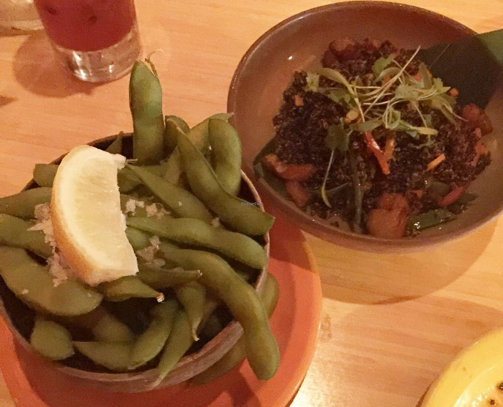 """Photo of SushiSamba  by <a href=""""/members/profile/SarahKirby"""">SarahKirby</a> <br/>Edamame & Quinoa  <br/> May 9, 2015  - <a href='/contact/abuse/image/43531/196754'>Report</a>"""