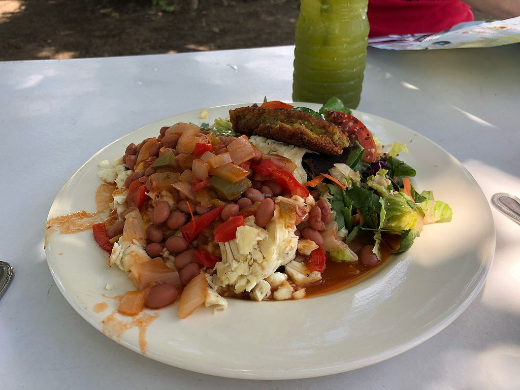 """Photo of Ital Creations - Food Stall  by <a href=""""/members/profile/skl411"""">skl411</a> <br/>Yummy vegan cooked lunch! Breadfruit was amazing! <br/> April 17, 2018  - <a href='/contact/abuse/image/43557/387159'>Report</a>"""