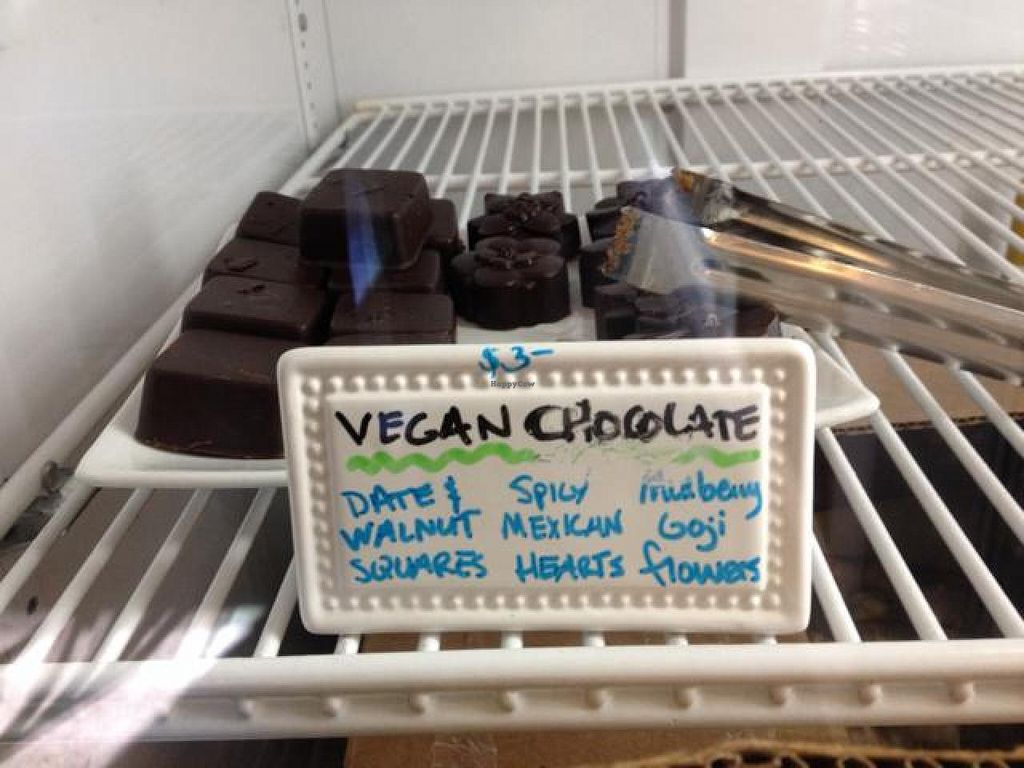 """Photo of Salud Live Kitchen and Juice Bar  by <a href=""""/members/profile/VegFriends"""">VegFriends</a> <br/>Excellent vegan chocolates! <br/> April 27, 2014  - <a href='/contact/abuse/image/43575/68765'>Report</a>"""