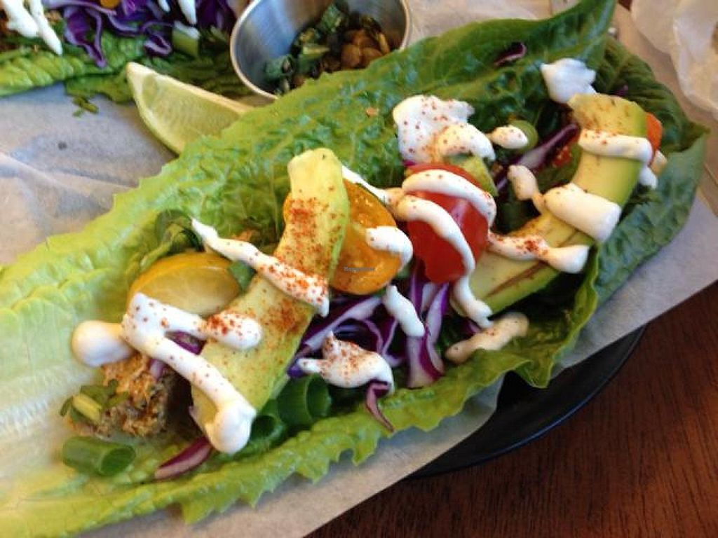 """Photo of Salud Live Kitchen and Juice Bar  by <a href=""""/members/profile/VegFriends"""">VegFriends</a> <br/>Amazing Raw Tacos <br/> April 27, 2014  - <a href='/contact/abuse/image/43575/68767'>Report</a>"""