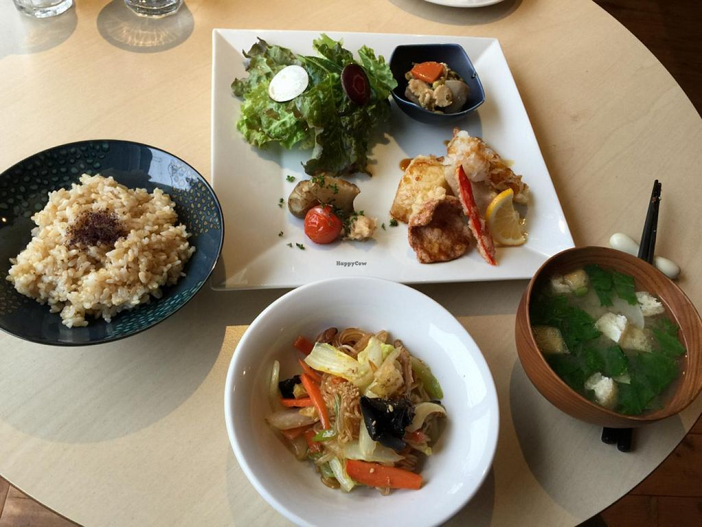 """Photo of CLOSED: Cafe Topinambour  by <a href=""""/members/profile/Earthdiet"""">Earthdiet</a> <br/>Veggie set course meal at lunch! <br/> April 26, 2015  - <a href='/contact/abuse/image/43584/100349'>Report</a>"""