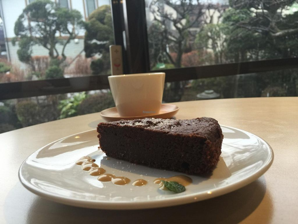 """Photo of CLOSED: Cafe Topinambour  by <a href=""""/members/profile/Earthdiet"""">Earthdiet</a> <br/>vegan chocolate torte <br/> April 26, 2015  - <a href='/contact/abuse/image/43584/100352'>Report</a>"""