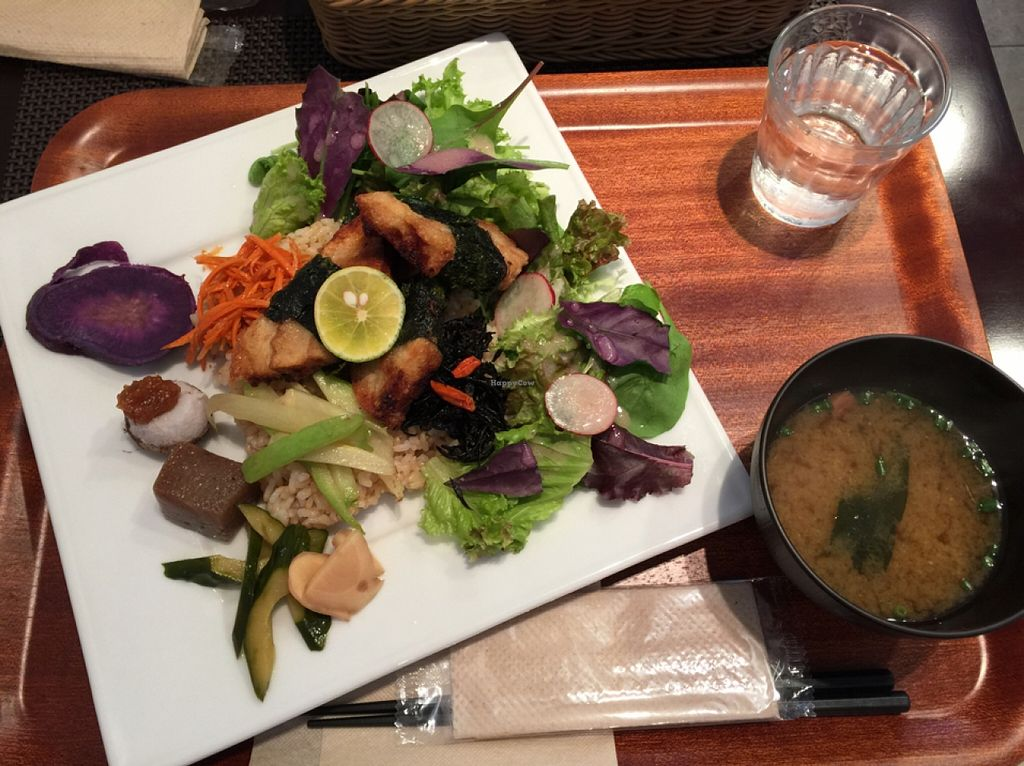 "Photo of CLOSED: Tao Vege Cafe  by <a href=""/members/profile/layla_martin"">layla_martin</a> <br/>Soy meat, brown rice, vegetables & salad <br/> October 9, 2015  - <a href='/contact/abuse/image/43585/120790'>Report</a>"